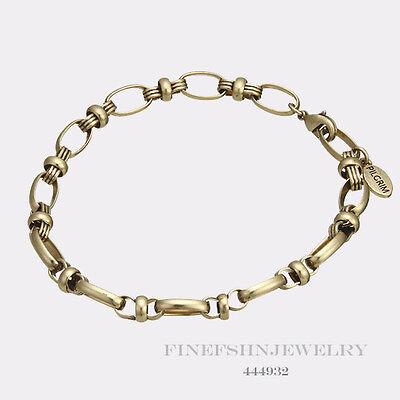 Authentic PILGRIM bijoux Or Tons Twisted Link Bracelet Breloque