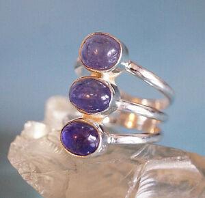 Largos-Anillo-de-Plata-56-57-59-Tanzanita-Azul-Purpura-Elegante-Sencillo-Diseno