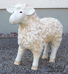 SCHAF Kopf unten 55 cm weiß Garten Deko Tier Figur BAUERNHOF Schäfchen LAMM