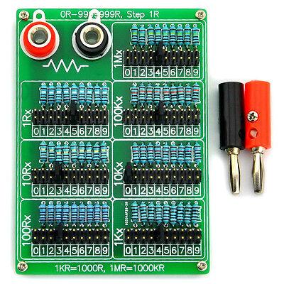 1R - 9999999R Seven Decade Programmable Resistor Board, Step 1R, 1/4W, SKU9715F