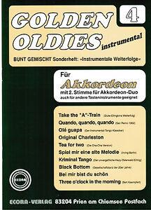 Akkordeon-Noten-Golden-Oldies-4-mittelschwer-m-2-Stimme-ad-lib