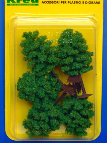 H 8,5 scala HO-1//87 Krea Alberi con fiori gialli per modellismo  5 pz cm