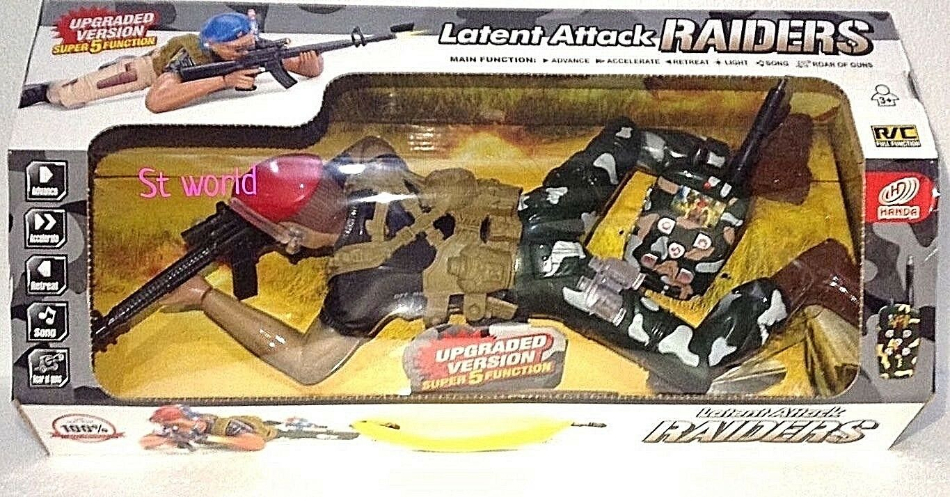 SOLDIER  RAIDERS RADIO REMOTE CONTROL LOADED SOLDIER - R C VOICE LIGHTS SOUND