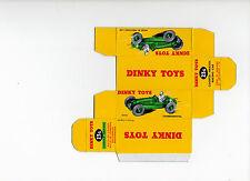 Boîte copie repro Dinky Toys 23 G cooper - bristol racing car ( verte - green )