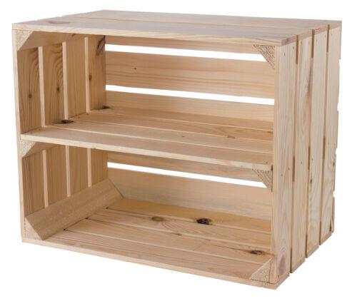 Holzkiste 50x40x30cm 5x Schönes naturfarbenes Kistenregal für Aufbewahrung