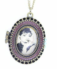 Vintage Retro-Stil bronze Audrey Hepburn medaillonanhänger halskette