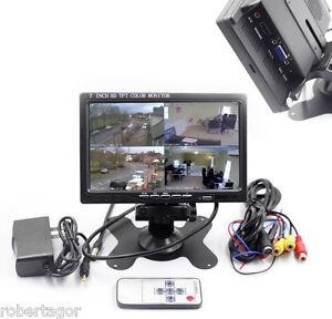 MONITOR-7-HDMI-VGA-AUTO-CAMPER-TELECOMANDO-RETROMARCIA-VIDEOSORVEGLIANZA-AUDIO