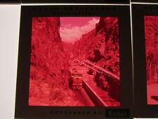 Lot VTG 120mm Medium Format Color Slides Rio Grande Train Royal Gorge Tram Colo