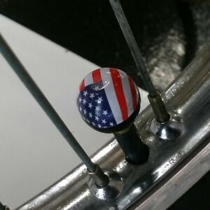 2-New-Stars-amp-Stripes-Muscle-Bike-Valve-Stem-Caps-fit-Evel-Knievel-Bicycle