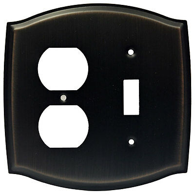 Oil Rubbed Bronze Combo Outlet Toggle Switch Wall Plate