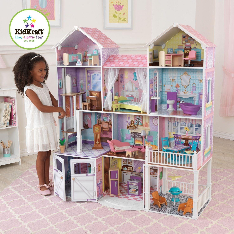 Kidkraft Country Estate Puppenhaus Große Hölzerne Puppe Mansion für Barbie