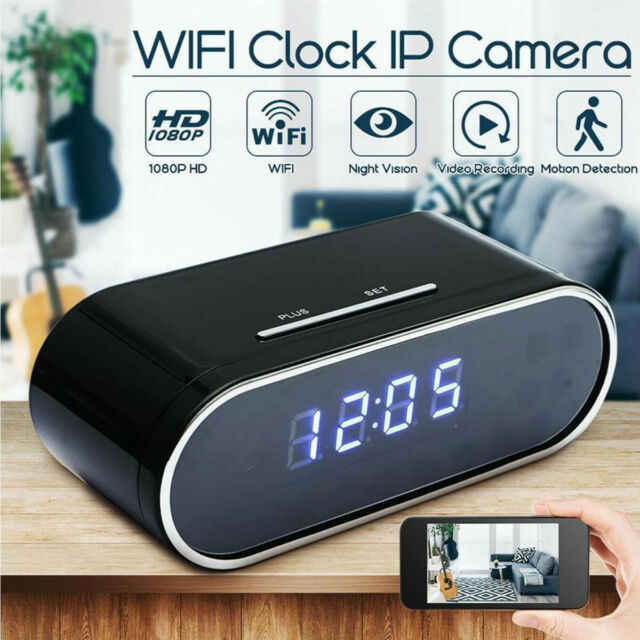 1080P HD SPY Hidden Camera Clock IR Night Vision Motion Detection Mini DV//Remote