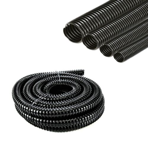 Pond And Aquarium Hose Pipe 30 Meter Roll in Clear Corrugated Ribbed Heavy Light