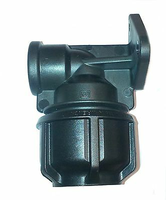 MDPE Philmac Wall Plate Elbow Bend x Female Threaded FBSP 20 25mm Tap Connector