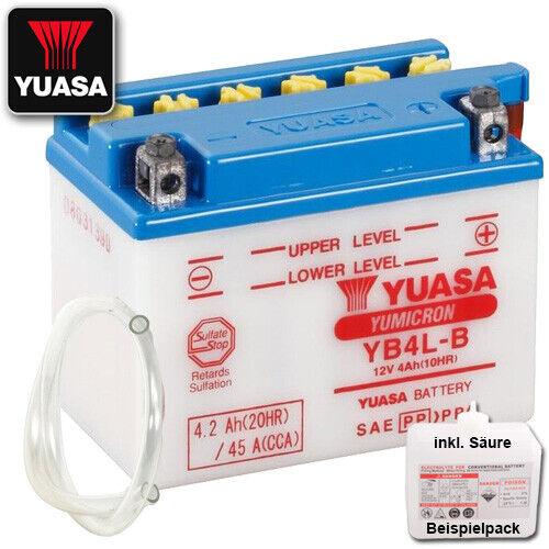 Batterie Peugeot Vivacity 50 V1AAAA Bj 2009 YUASA YB4L-B