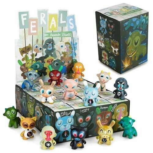 Kidrobot Auomoda Visell Ferals 3  Mini cifra Display scatola - 20 Blind cifras