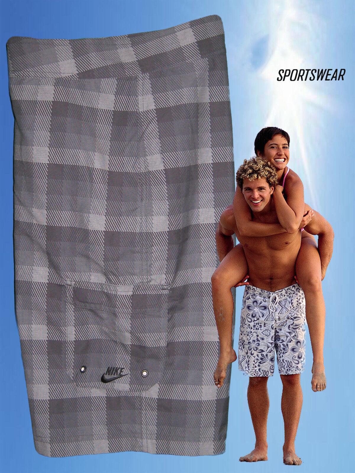 NEW NIKE Sportswear NSW Active Beach Water Sports Board Shorts Trunks Grey 32