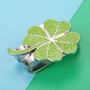 Wonderful Four Leaf Clover Hat Clip With Magnetic Golf Ball Marker ... 50a342c1b3bd