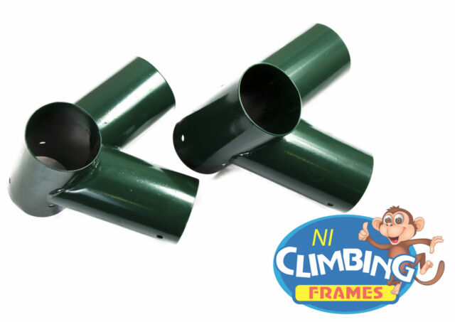 PAIR NEW Swing Corner Round Bracket GREEN 125mm Wooden Climbing Frame 100 degree