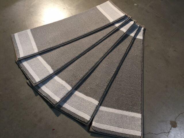 "Premium Belgium Set Of  7 Or 14 Stair Treads Woven Rug Carpet  8"" X 26"""