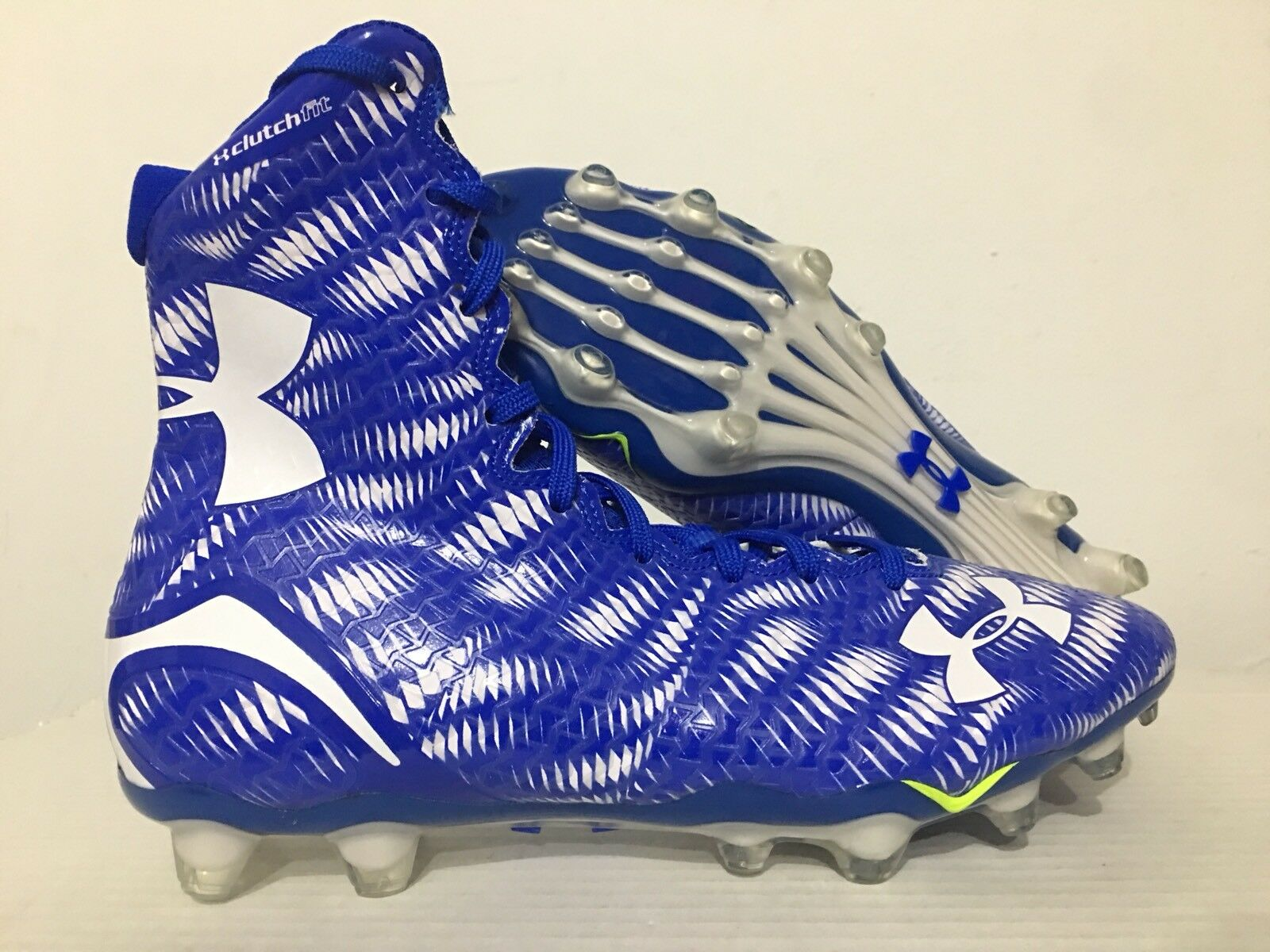 Under Armour Highlight MC Football Cleats Royal Blue White SZ 10 [1258400-412]