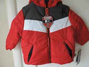 3932eafd4 NWT Protection System Bubble Jacket Toddler Boy Red Gray White 2 3 ...