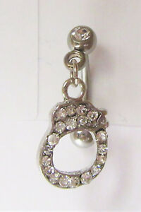 Image Is Loading Clear Crystal Gem Handcuff Dangle Vertical Clitoral Hood