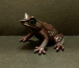 RARE-Kaiyodo-Yujin-Play-Vision-Malaysian-Horned-Toad-Frog-Mini-PVC-Figure