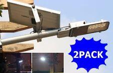 2PACK Multifunctional Solar Street Light 12 SMD LEDs Solar Flood Bright Lights
