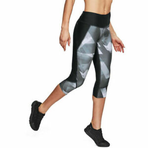 Under Armour Ua Heatgear Femmes Imprimé Capri Fly Rapide Gym SPORTS Leggings