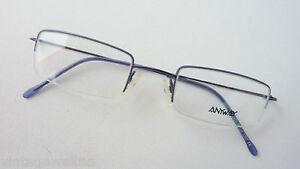 Anyway-ultraleichtbrille-Filigree-dunnrandig-Metal-Blue-Angular-Frames-Size-S