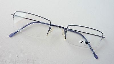 Occhiali Leggermente Bordo Normale Metallo Blu Quadre Versione Sottile Bicchieri Misura S- Ultimi Design Diversificati