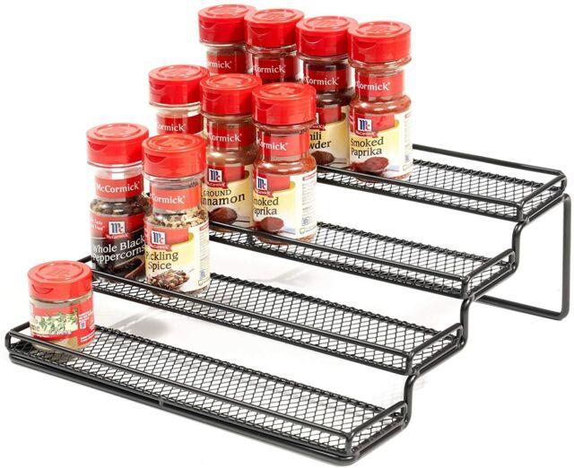 4 Tier Spice Rack Organizer Step For, Spice Rack Organizer For Kitchen Cabinets