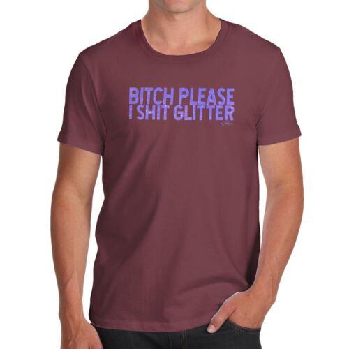 Funny Tshirts B-tch Please I Sh-t Glitter Men/'s T-Shirt