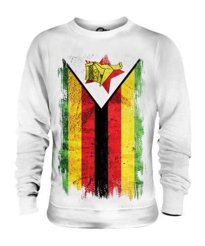 Zimbabwe Drapeau Grunge Unisexe Pull Zimbabwéen Maillot de Football Cadeau