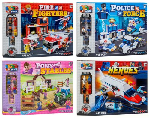 Fire Fighters Pony Stables Space Heroes Play Set New Brick by Brick Police