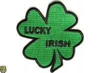 Lucky Irish Shamrock Iron On Patch - 3 Inch Free Shipping Irish Patch P2932