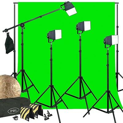 LED Dimmable 400W Photo Video Softboxs Boom Chromakey Support System Sandbags