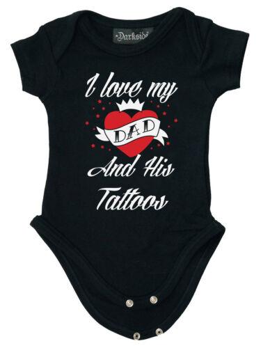 Darkside Baby body I Love My papá and his tatuajes niño pequeño Newborn Black 5008