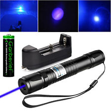 Blue Laser Pointer Pen 405nm 1mw Visible Beam Light Lazer With Battery Ampcharger