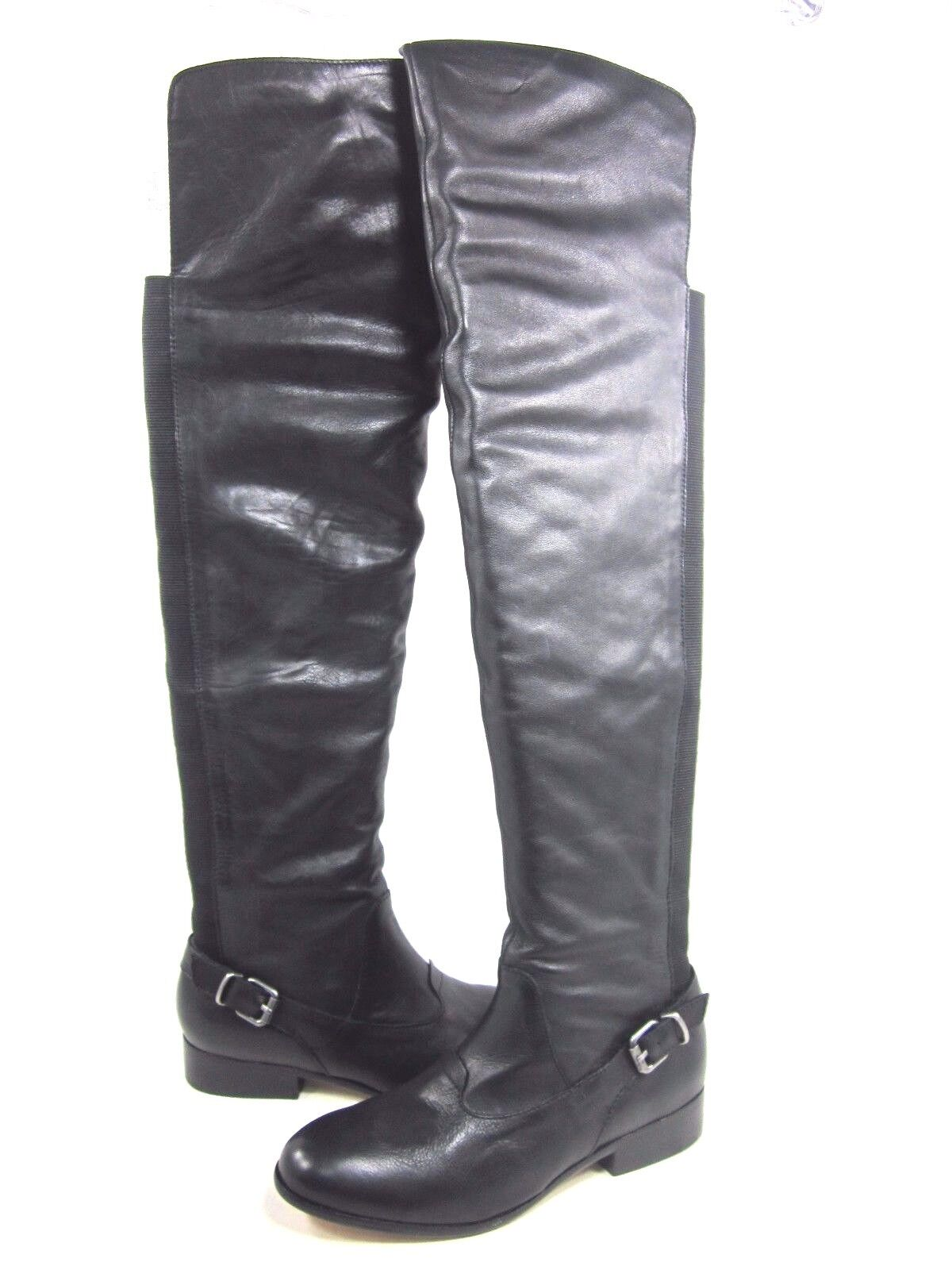 DOLCE VITA WOMEN'S DAVIE, OVER THE KNEE LEATHER BOOTS, BLACK, US SIZE 7.5 MEDIUM