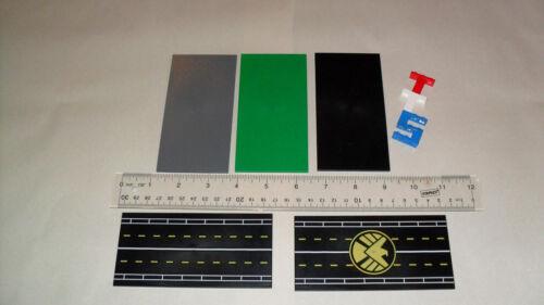 Road 8x16 LEGO Smooth Finishing TILE 90498 Green DBG Choice Set of 2 Black