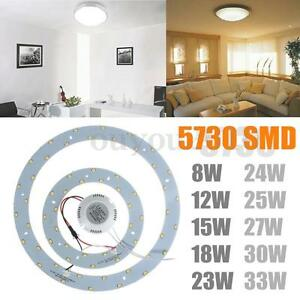 Super Bright 5730 SMD LED Panel Circle Annular Ceiling Light ...