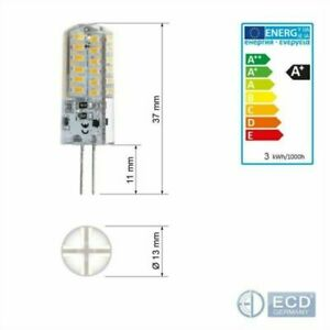 10X G4 3W LED Birne Lampe Leuchtmittel Stiftsockel Dimmbar SMD Halogen Glühlampe