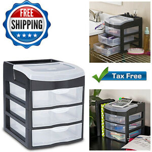 Image Is Loading Plastic Organizer Drawers Storage Clear Rack Container Box