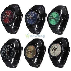 Fashion-Men-039-s-Watches-Sport-Luxury-Silicon-Strap-Wrist-Analog-Quartz-Wrist-Watch