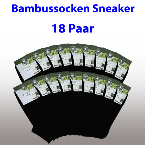 1-3-6-9-12-18-24 Socken Sneaker schwarz Freizeit Bambus 39-42 43-46 47-50 *****