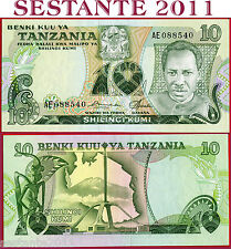 TANZANIA  - 10 SHILLINGS SHILINGI nd  1978  - Sign 5  Scarce -  P 6a - FDS / UNC