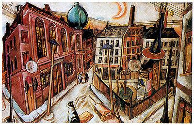 Beckmann Art Canvas//Poster Print A3//A2//A1 Synagogue in Frankfurt 1919