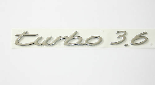 GENUINE PORSCHE 911 964 965 TURBO 3.6 BADGE EMBLEM CHROME NEW